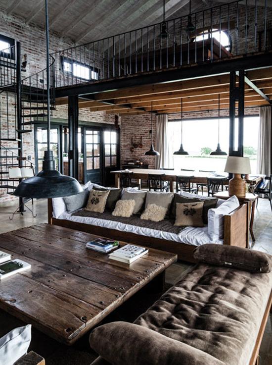 Inspired by the exposed industrial living room idea interior ... & 7 Industrial Interior Design Tips to Create Industrial Style in Any ...