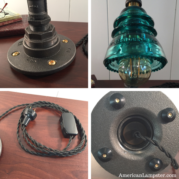The Product Is Already In The Wishlist! Browse Wishlist · Glass Insulator  Industrial Table Lamp